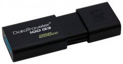 Флешка 256 Гб Kingston DataTraveler 100 G3 (DT100G3/256GB) USB 3.0 Type A, черная