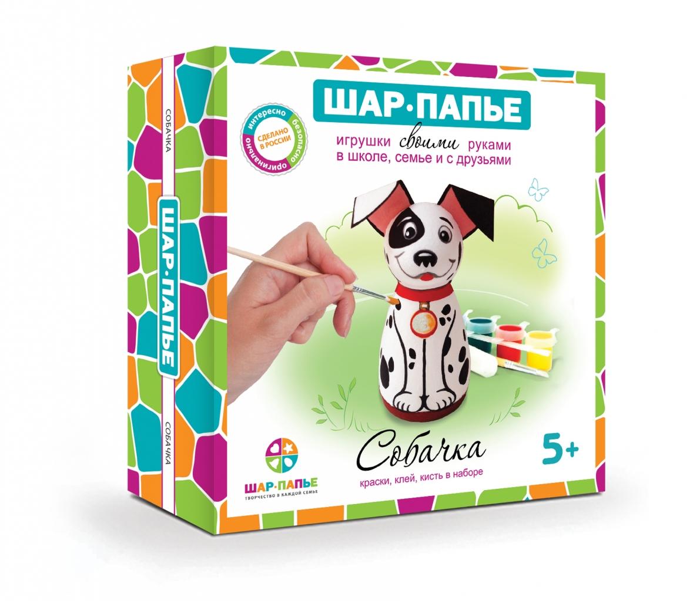 Купить Набор для творчества ШАР-ПАПЬЕ В01931Т Собачка, заготовки из прессованной бумажной массы (аналог папье-маше), Для мальчиков и девочек, Россия, Детские товары