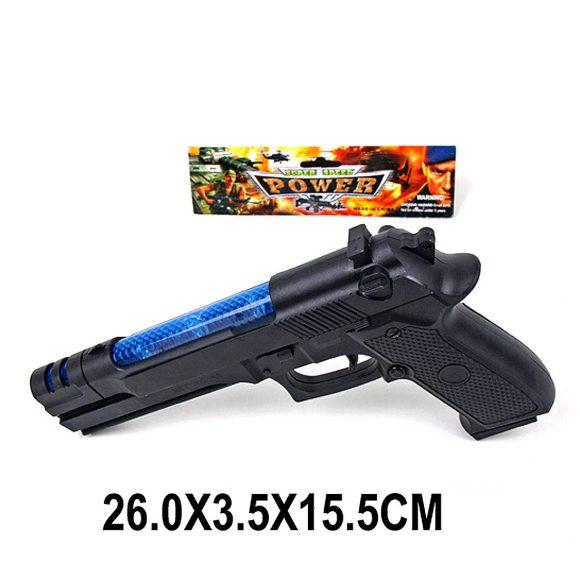 Купить НАША ИГРУШКА Пистолет со светом и звуком, арт. 17-001 [17-001], Наша игрушка, пластик, Игрушечное оружие и бластеры