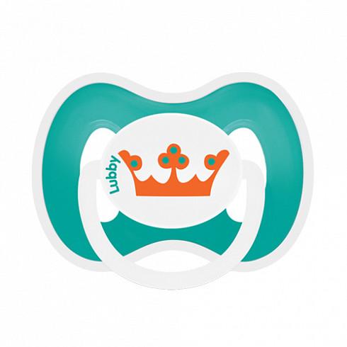 Купить LUBBY Соска-пустышка силиконовая Любимая , от 0 месяцев, симметричный сосок, кольцо, колпачок, цвет бирюзовый [15929/144/12], Бирюзовый, Силикон, полипропилен, Пустышки и аксессуары