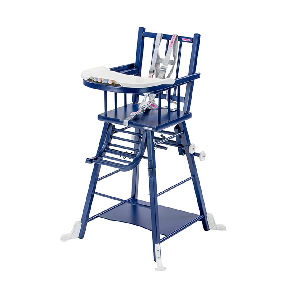 Купить 36, COMBELLE Стул для кормления - трансформер MARCEL, 47х47х98 см Navy blue / Темно - синий, Франция, Стульчики для кормления малышей