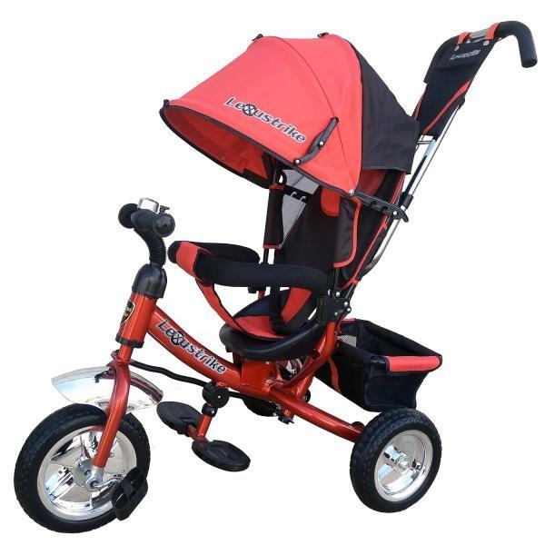 Купить Велосипед трехколесный LEXUS TRIKE с ручкой управления, цвет красный. [950-108-RED-no], Велосипеды для взрослых и детей