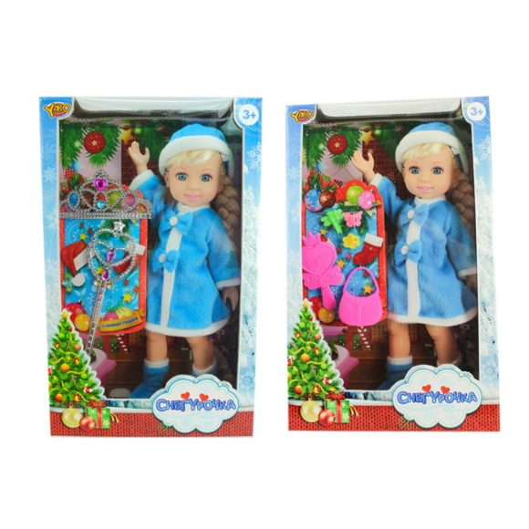 Купить НАША ИГРУШКА Кукла Джемми-Снегурочка в син.костюме, с аксесс., кор. [M6867], пластик, Текстиль, Для девочек, Куклы и пупсы