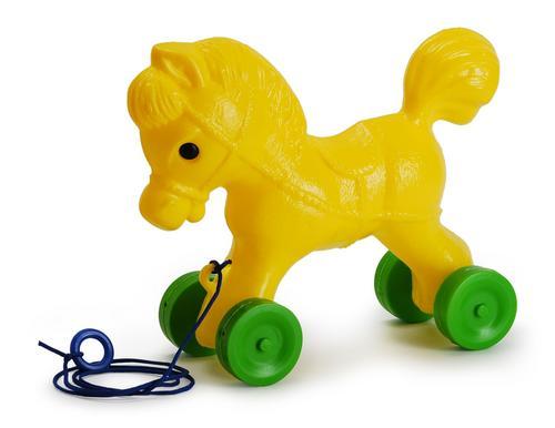 Купить РОСИГРУШКА Каталка Лошадка, 25 см [9107], Рославльская игрушка, Россия, Каталки и качалки для малышей