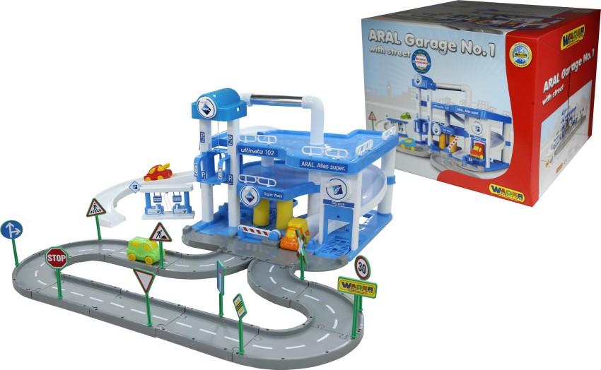 Купить ПОЛЕСЬЕ Паркинг ARAL 3-уровневый, с дорогой и подъёмником [40428], пластмасса, Беларусь, Детские парковки и гаражи