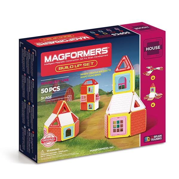 Купить Магнитный конструктор MAGFORMERS 705003 Build Up Set, пластик, магнит, Для мальчиков и девочек, Китай, Конструкторы