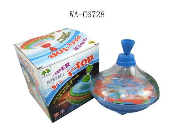 Купить SHANTOU Юла, световые и звуковые эффекты, 13.5x14x13см [CQS788-9], пластмасса, Юлы для малышей