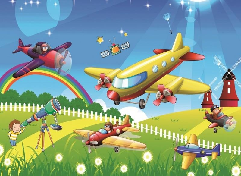 Купить COLOR KIT Мозаика-стикеры 3D Аэропланы [DF-A-6611 ], Наклейки для творчества