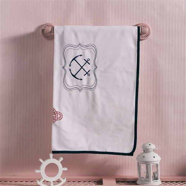 Купить KIDBOO Плед велсофт Blue Ocean [00-0012643], Синий, Для мальчиков и девочек, Покрывала, подушки, одеяла для малышей