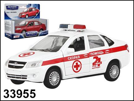 Купить AUTOTIME Модель автомобиля Lada Granta. Скорая помощь, 1:36 [33955W-RUS], Игрушечные машинки и техника
