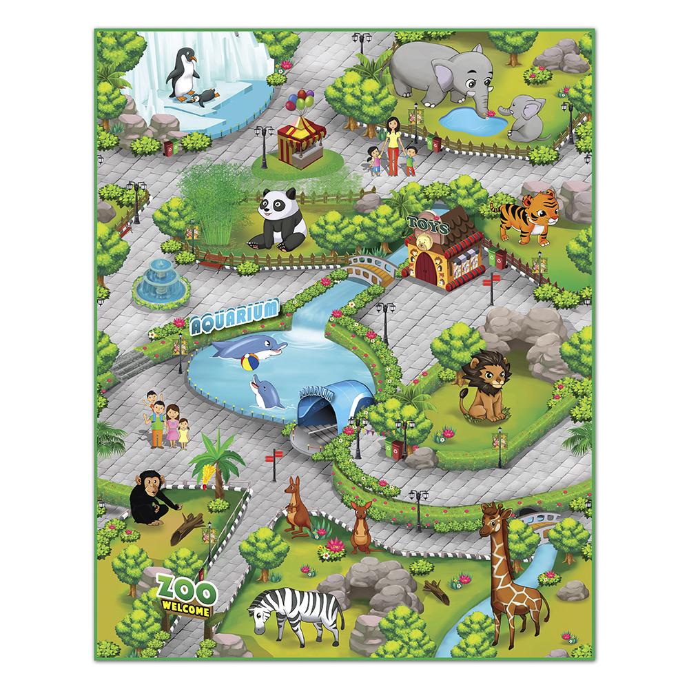 Купить Зоопарк 3D 90*120 см, Интерактивная игра KNOPA 657027 Зоопарк 3D 90x120 см, пластмасса, Для мальчиков и девочек, Индонезия, Развивающие коврики для малышей