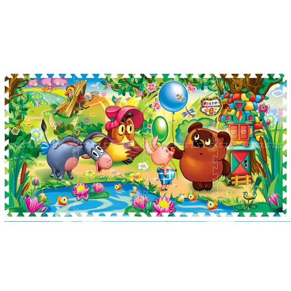 Купить ИГРАЕМ ВМЕСТЕ Коврик-пазл Винни-Пух , 8 сегментов [FS-VN], Развивающие коврики для малышей