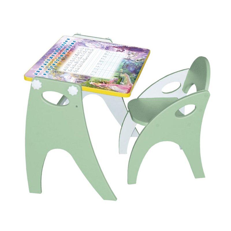 Купить ИНТЕХПРОЕКТ Набор мебели ЗИМА-ЛЕТО парта-мольберт стульчик салатовый/фисташковый [14-320], Интехпроект, Комплекты мебели для детских комнат