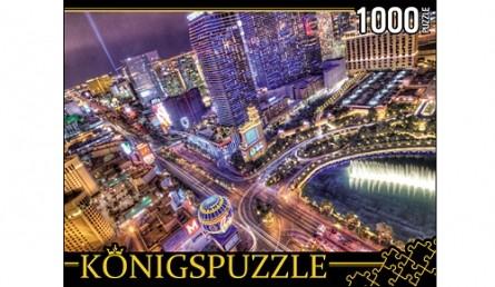 Купить АЛК1000-6480, Königspuzzle Пазлы 1. Ночной Лас-Вегас , 1000 элементов, Königspuzzle, Картон