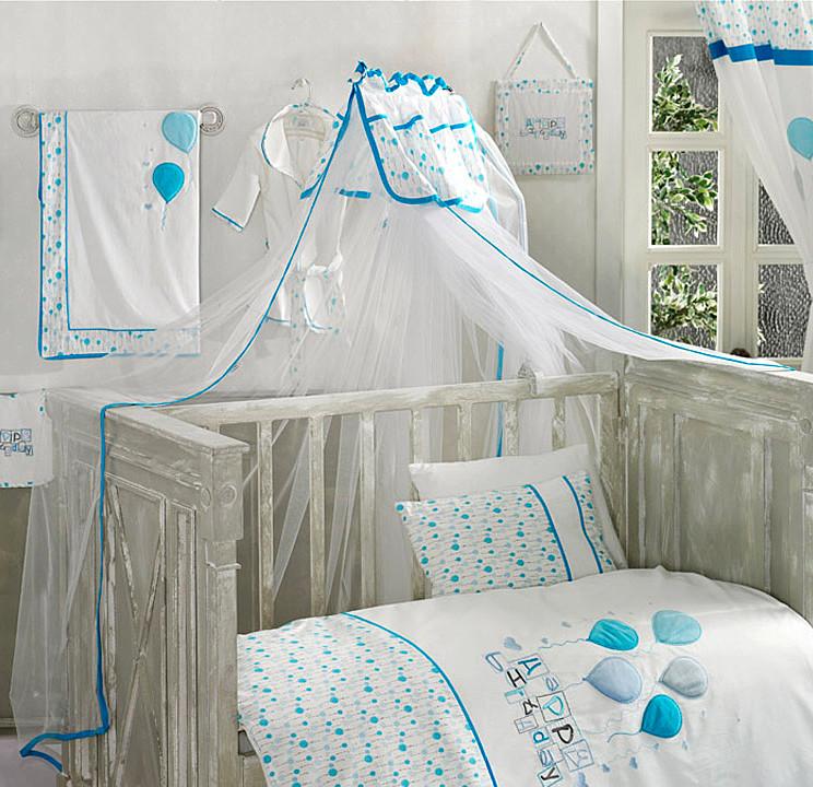 Купить KIDBOO Балдахин Happy Birthday Blue [00-0010545], Голубой, Текстиль, сетка, Для мальчиков, Балдахины и держатели для детских кроваток