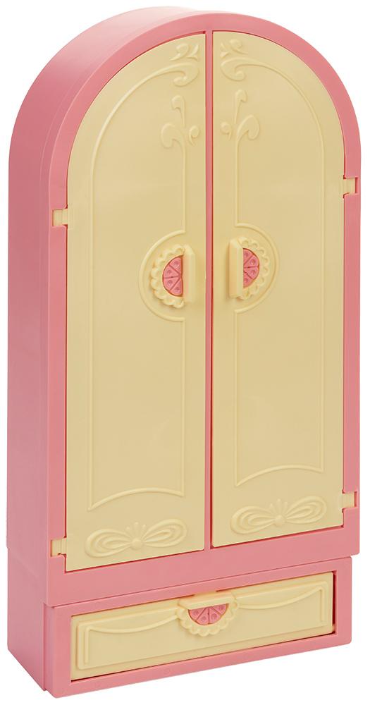 Купить С-1503 розовый, Гардероб для кукол Огонек Маленькая принцесса (С-1503) розовый, пластик, Россия, Мебель для кукол